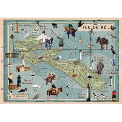 Set de Table Carte Île de Ré Animée