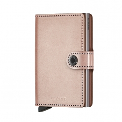 MINIWALLET SECRID CUIR Metallic Rose