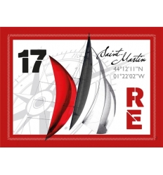 Set de Table de l'Île de Ré Voile Rouge