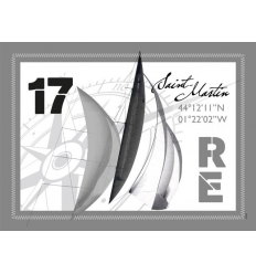 Set de Table de l'Île de Ré - Voile Gris