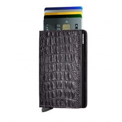 SLIMWALLET SECRID CUIR Nile Black