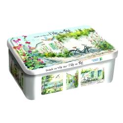 boîte sucre balade à vélo sur l'île de ré relief galettes charentaises 300g