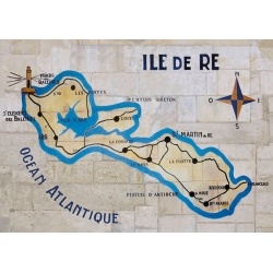 Set de Table de l'Île de Ré - Carte Murale - Création France