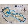Set de Table de l'Île de Ré - Carte Murale - Création France