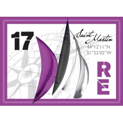 Set de Table de l'Île de Ré - Voile Violet