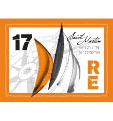 Set de Table de l'Île de Ré - Voile orange - Fabriqué en France