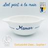 """Bol prénom """"Maman"""" âne bleu Île de Ré"""