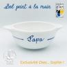 """Bol prénom """"Papa"""" motif âne bleu de l'Île de Ré"""