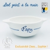 """Bol prénom """"Papy"""" motif âne bleu Île de Ré"""
