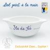 "Bol prénom ""Île de Ré"" tradition motif âne bleu"