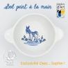 Bol avec prénom made in France avec motif petit âne île de ré personnalisé en porcelaine de la Faïencerie de Pornic