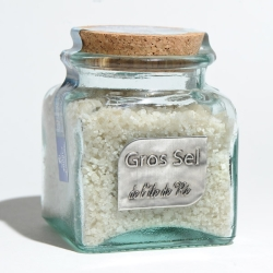 gros sel bocal verre 400 g bouchon liège