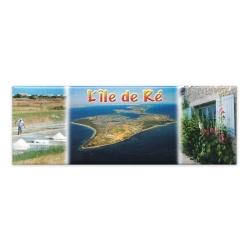Magnet composée marais salant rose trémière Île de Ré