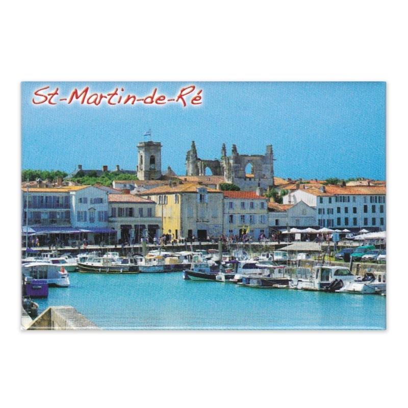 Magnet collection Saint Martin de Ré le port l'église
