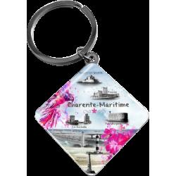 Porte Clés trésors charente maritime forme losange