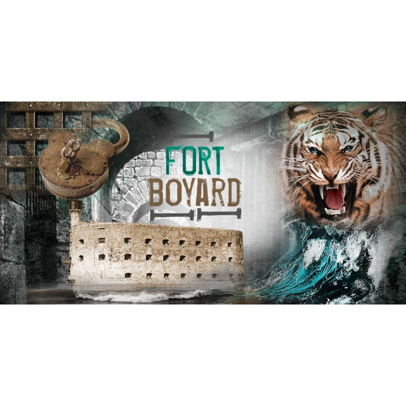 Magnet souvenir illustration Fort Boyard
