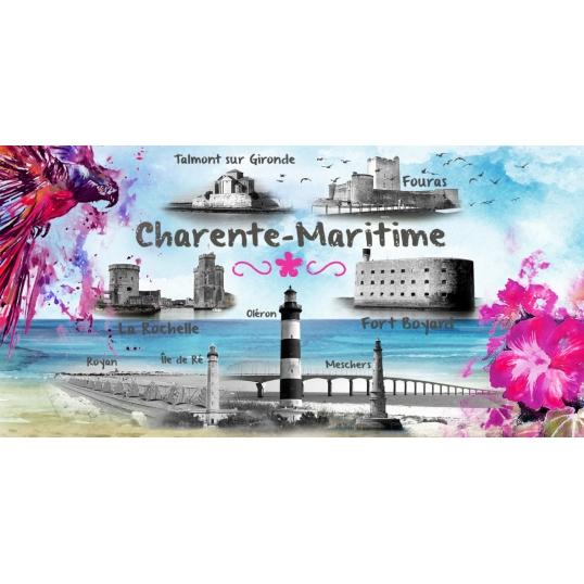 Magnet panoramique souvenir Charente Maritime