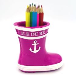 bottes porte crayon rose île de ré