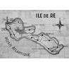 Set de Table Carte Murale de l'Île de Ré - Création France