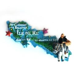 Magnet Carte de l'Île de Ré relief